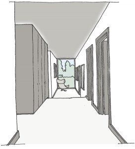 Halls with windows