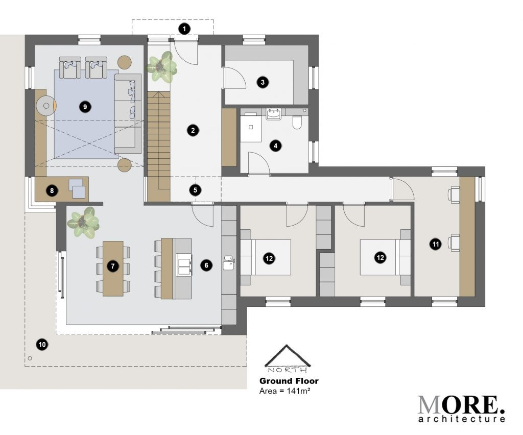 OGC House MORE Architecture - Ground floor Plan